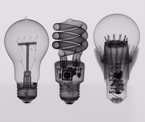 The Evolution Of Electric Light Bulbs with X-ray CT computed tomography