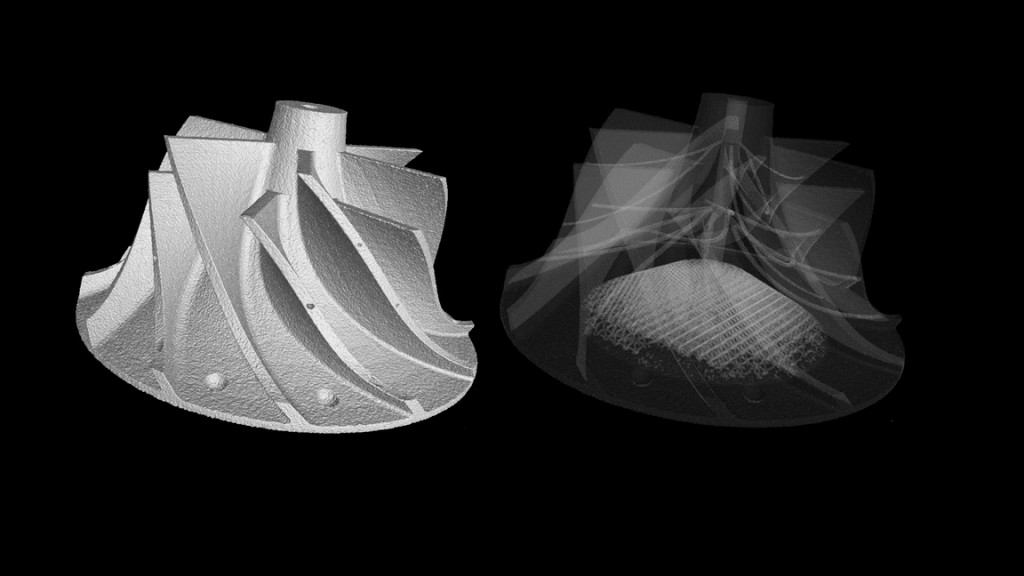 Additive Manufactured metal parts for CT inspection