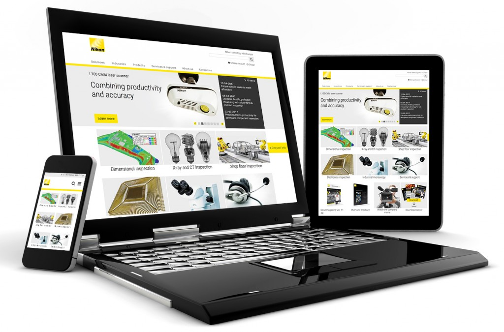 Click on the image to enter Nikon Metrology's new website.