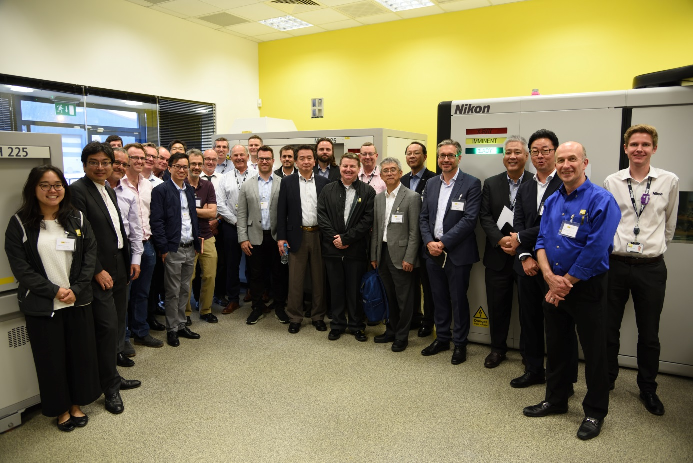 The attendees and speakers at Nikon's global X-ray User Forum in Tring, UK.