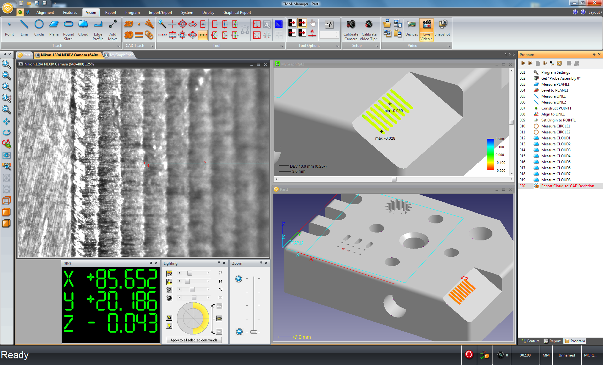 Screenshot of CMM-Manager 3.8 on Nikon Nexiv VMZ-R.