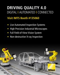 Nikon Metrology drives Quality 4.0 at IMTS - Visit booth #135060