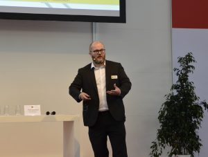 Laser Radar Product Manager Paul Lightowler speaks at Control 2019.
